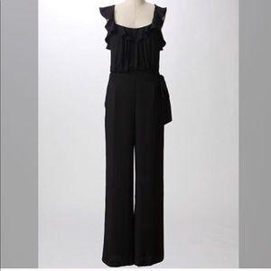 Anthropologie Sine black pants jumpsuit size 6